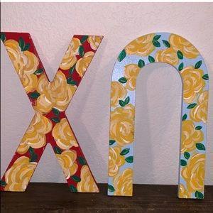 Floral Chi Omega Letters